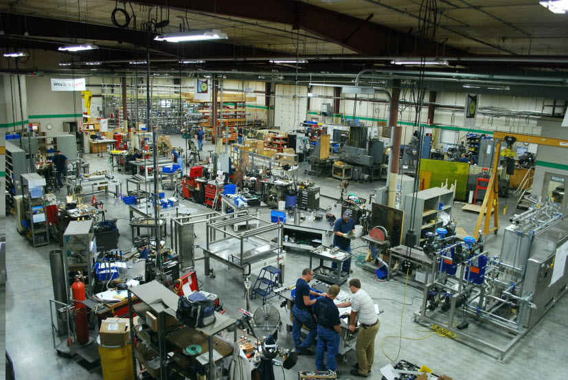 Central States Industrial Equipment & Service work floor