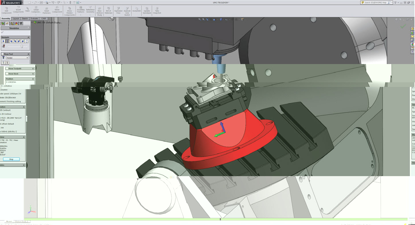 Autodesk HSMWorks CAM for SOLIDWORKS rendering