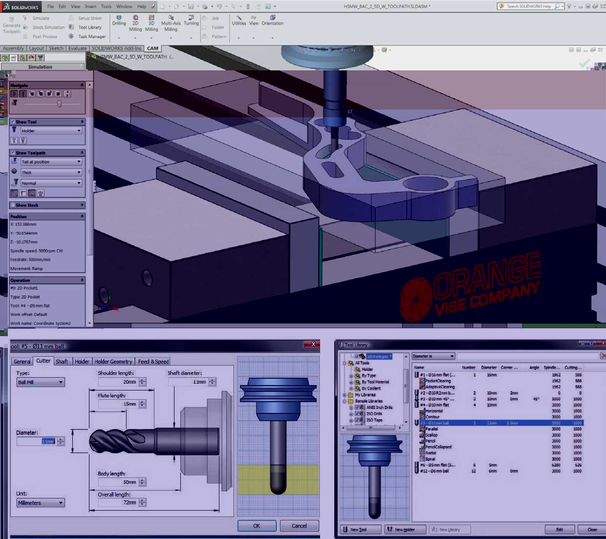 Autodesk HSMWorks CAM for SOLIDWORKS drilling and hole making