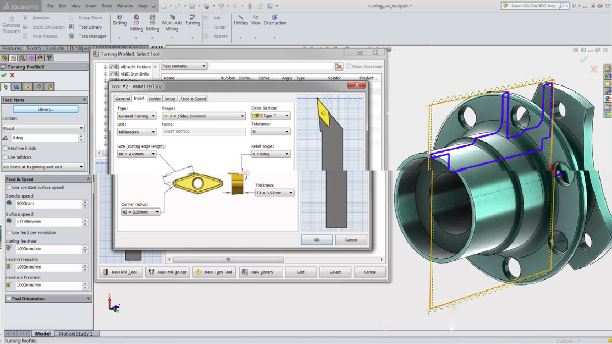 Autodesk HSMWorks CAM for SOLIDWORKS turning