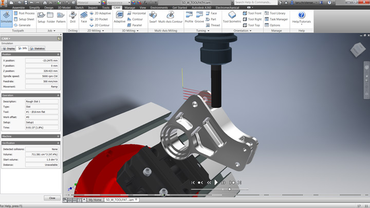 Autodesk HSM CAM for Inventor rendering