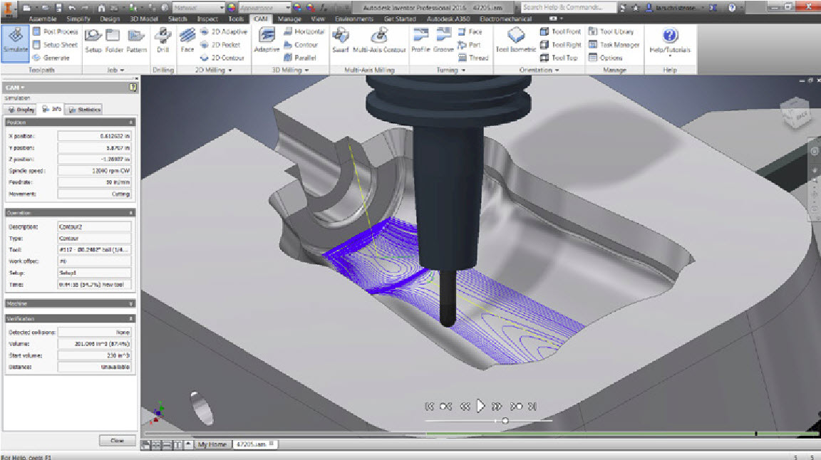 Autodesk HSM CAM Multi-axis simultaneous machining